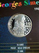 Belgica. 10 Euro. 2003. Plata. Silver. Georges Simenon