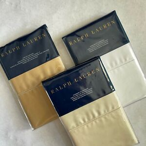 Ralph Lauren RL 624 SOLID SATEEN Bedding - Pillowcases 5 colors NEW