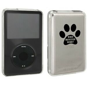 For Apple iPod Classic Hard Case 6th 80 120 7th 160gb Paw Print Who Rescued Who?