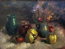 ZVI ADLER MIKLOS (1909- 1965) , Oil on Board, Still Life, Signed, Dated 1956