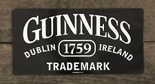 Guinness 1759 Dublin, Ireland Trademark Tin Metal Beer Sign