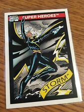 IMPEL MARKETING 1990 MARVEL COMICS SUPERHEROES STORM CARD # 24 X-MEN NEAR MINT