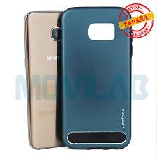 Funda carcasa Samsung G935 Galaxy S7 Edge  metal aluminio Motomo Gris frio
