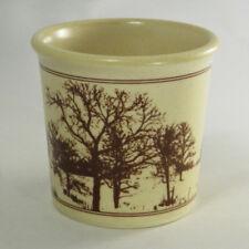 Vintage Taylor International Country Road Mug Trees Coffee Cup Farm Cream Brown