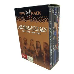 WWE Armageddon PPV Pack - 2002 - 2003 - 2004 - 2005 DVD Set - Region 4