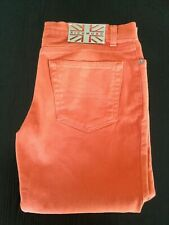 RICHMOND DENIM JEANS ARANCIONE UNISEX PINOCCHIETTO PANTS SHORTS BERMUDA SIZE 30
