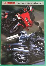 YAMAHA MOTO FZS600 FZS600S FAZER   DEPLIANT CATALOGO BROCHURE CATALOG