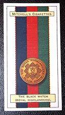 The Black Watch (Royal Highlanders)   Original 1916  Ribbon & Badge Card