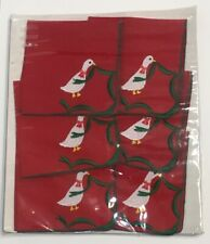 New listing Set of 6 Vtg Hallie St. Mary Cocktail Napkins Embroidered Linen / Polyester Nos