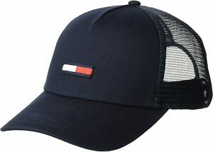 Tommy Hilfiger Men's Logo Baseball Cap Mesh Snap Back Trucker Hat AU00561