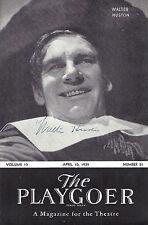 """Walter Huston (Signed) """"KNICKERBOCKER HOLIDAY"""" Kurt Weill 1939 Detroit Program"""