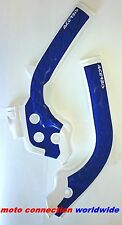 ACERBIS X-GRIP FRAME GUARDS WHITE BLUE HUSKY HUSQVARNA TE250 TE300 2018    21726