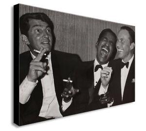 Dean Martin, Sammy Davis Jr. And Frank Sinatra - Canvas Wall Art Framed Prints