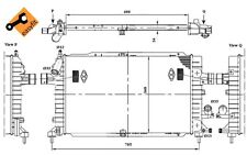 NRF Radiador, refrigeración del motor OPEL ASTRA ZAFIRA VAUXHALL ASTRAVAN 53415