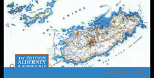 Alderney  2017 Bourhu Map  landkaart   presentation pack  postfris/mnh