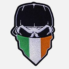 SKULL with CAP and IRISH FLAG Hanky embroidered Patch-000655