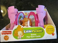 Fisher Price Little People New Box Castle Pop Open stackable Queen Sofia Pink
