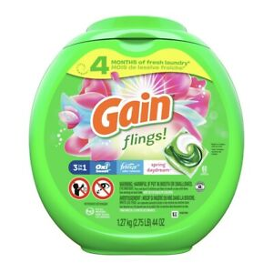 Gain Flings Laundry Detergent Pacs, Spring Daydream, 60 Count