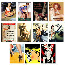 Funny, Retro Metal Signs/Plaques, Cool Novelty Gift, Pin Ups 7
