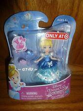 "Disney Princess Little Kingdom Magical Glimmer CINDERELLA Snap-Ins 3"" Mini Doll"