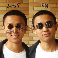 92d84674748 Round Frame Dark Lens Sunglasses Shades Sunnies Vintage Retro Penny Men  Women