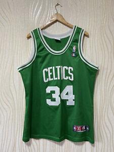 BOSTON CELTICS BASKETBALL SHIRT JERSEY CHAMPION NBA sz XL #34 PAUL PIERCE