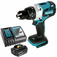 Makita DHP481 18v Brushless Combi Drill Body With 1 x 6.0Ah Battery & Charger