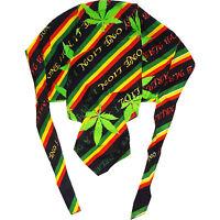 Bob Marley Rasta Cannabis Leaf Zandana Skull Cap Hat Motorcycle Biker Bandana