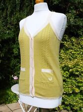 Fred Perry Women's Olive Green Button-Through Vest Top - UK 10/ EUR 38/ USA 6