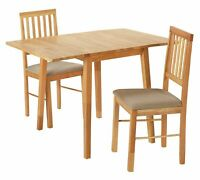 Home Kendal Solid Wood Extending Table & 2 Chairs