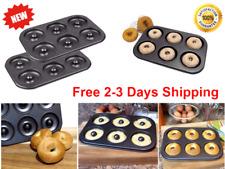 2 Pack Of 6 Cavity Donut & Bagel Baking Pan Healthy Homemade Doughnuts durable