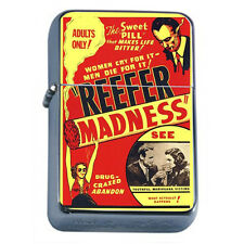 Silver Flip Top Oil Lighter Vintage Poster D19 Reefer Madness 1936
