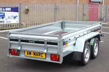 NEW Car trailer MARTZ twin axle 263cm x 125cm 8.8 x 4.2 UNBRAKED 750kg