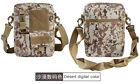 Tactical MOLLE Pouch Small Canvas Messenger Bag Small Sling Bag Crossbody Pack