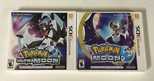 Pokémon Ultra Moon + Moon Lot Nintendo 3DS Authentic Tested CIB COMPLETE