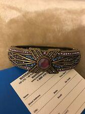 NEW Heidi Daus Conscious Coupling Bracelet Tanzanite Color w/Warranty Card   $90