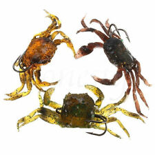Soft Simulation Crab Bait Fishing Lure Bass Cod Wrasse Hook Baits Tackle 8cm/30g