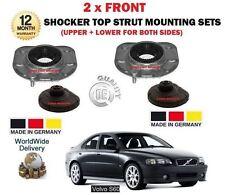 FOR VOLVO S60 2000-2010  2X FRONT UPPER + LOWER SHOCKER TOP STRUT MOUNTING KIT