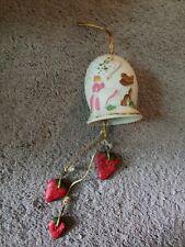 Vintage Jasco Strawberry Shortcake 1981 Ceramic Bisque Bell
