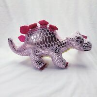 Pink Dinosaur Plush Stuffed Animal Stegosaurus Metallic NEW Easter
