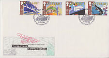 UNADDRESSED GB ROYAL MAIL FDC 1988 TRANSPORT & COMMUNICATIONS SET RMS QUEEN ELIZ