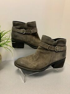 Born Womens Ozark Gray Ankle Boots Size 8.5M