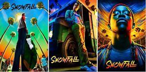Snowfall Season 1 2 3 Collector Art Posters (Set of 3) FX TV Show - NEW - USA