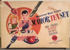 Vintage Worcester Ware Plastic Junior Tea Set No. 201 Service for 4