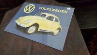 VOLKSWAGEN - Placa metalica litografiada ANUNCIO publicidad 40 x 28 cm. replica