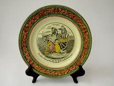 "Antique Adams Plate ""Cries Of London Series Ware"" Green & Lustre Border"