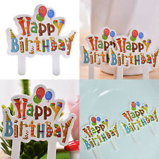 30 pcs Happy Birthday Cake Cupcake Cake Topper Food Topper Shower Party Pick YC