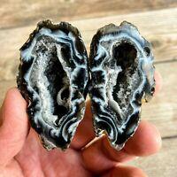 Extra Quality Quartz Occo Geode - Split Cloud Geode - Mineral Crystal Stone Rock