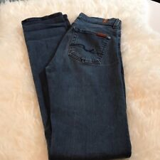 W14129 Women's 7 for all Mankind High Waist/Straight Leg Jeans, Size 27 VGUC