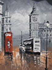 small London oil painting canvas art modern contemporary England Big Ben city
